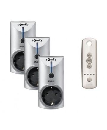 somfy rts verlichtingspakket met 3 ontvangers en 1 telis 4 On somfy verlichting