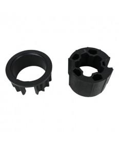 Adaptersset 63 mm rond met doeksleuf voor Somfy 50 serie